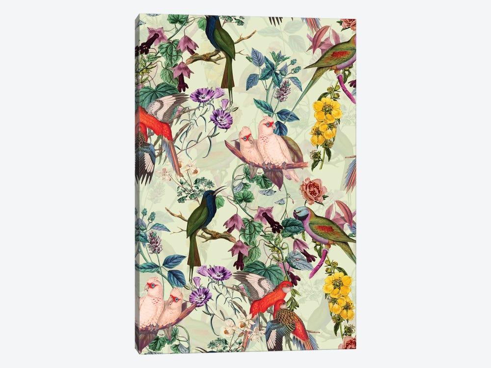 Floral And Birds VIII by Burcu Korkmazyurek 1-piece Canvas Art
