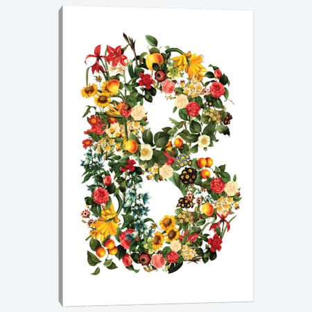 "Floral ""B"" Canvas Print #BUR8} by Burcu Korkmazyurek Canvas Wall Art"
