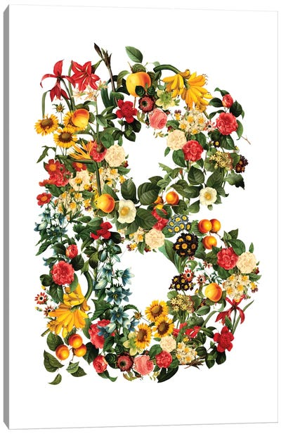 "Floral ""B"" Canvas Art Print"