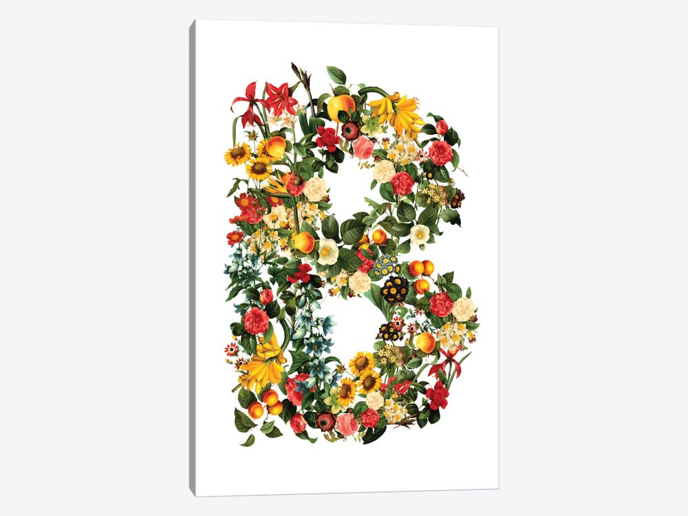 "Floral ""B"" by Burcu Korkmazyurek 1-piece Canvas Wall Art"