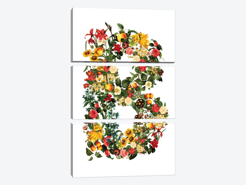 "Floral ""B"" by Burcu Korkmazyurek 3-piece Canvas Wall Art"