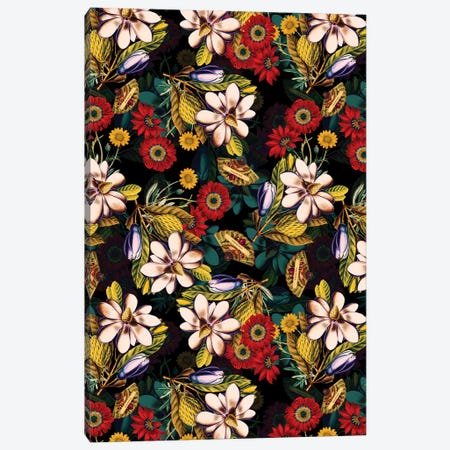 Japanese Floral Pattern Canvas Print #BUR92} by Burcu Korkmazyurek Canvas Print