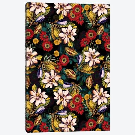Japanese Floral Pattern Canvas Print #BUR92} by Burcu Korkmazyurek Canvas Print