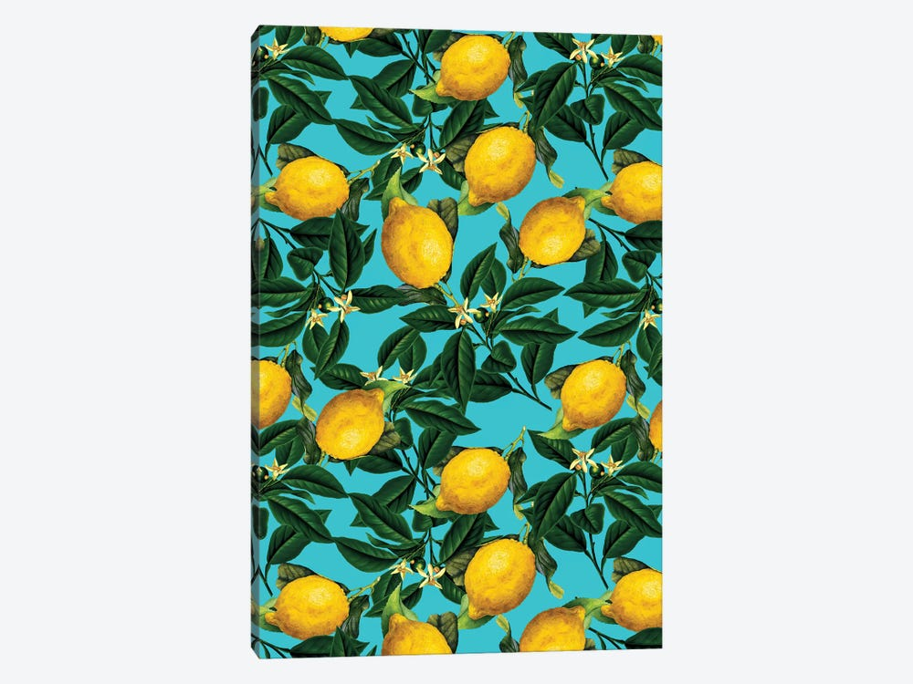 Lemon And Leaf by Burcu Korkmazyurek 1-piece Canvas Art