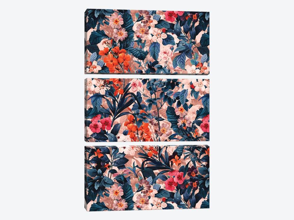Summer Botanical Garden XI by Burcu Korkmazyurek 3-piece Canvas Art Print