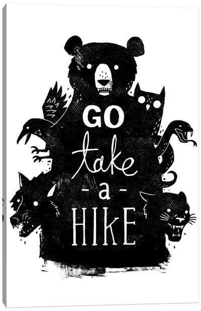 Go Take A Hike Canvas Art Print