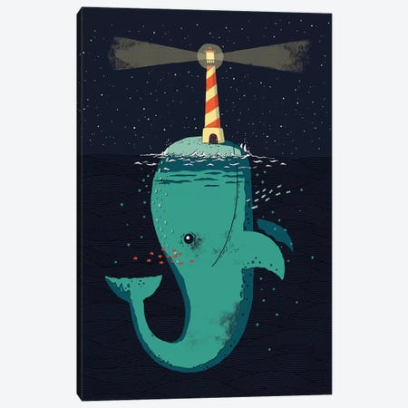 King Of The Narwhals Canvas Print #BUX12} by Michael Buxton Art Print
