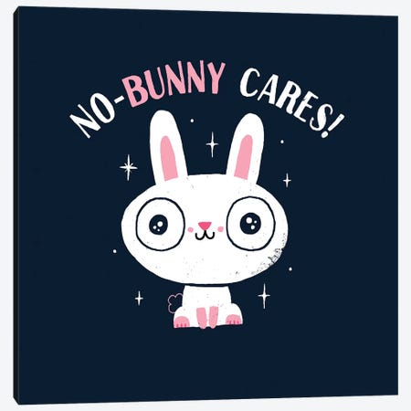 No-Bunny Cares Canvas Print #BUX13} by Michael Buxton Canvas Print