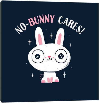 No-Bunny Cares Canvas Art Print