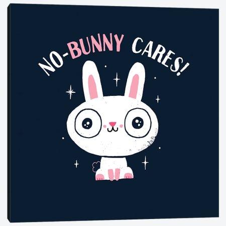 No-Bunny Cares Canvas Print #BUX13} by Michael Buxton Canvas Print