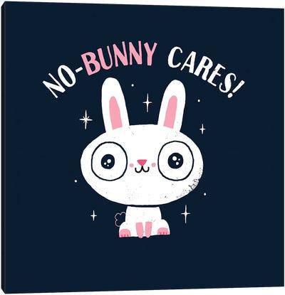 No-Bunny Cares Canvas Art Print