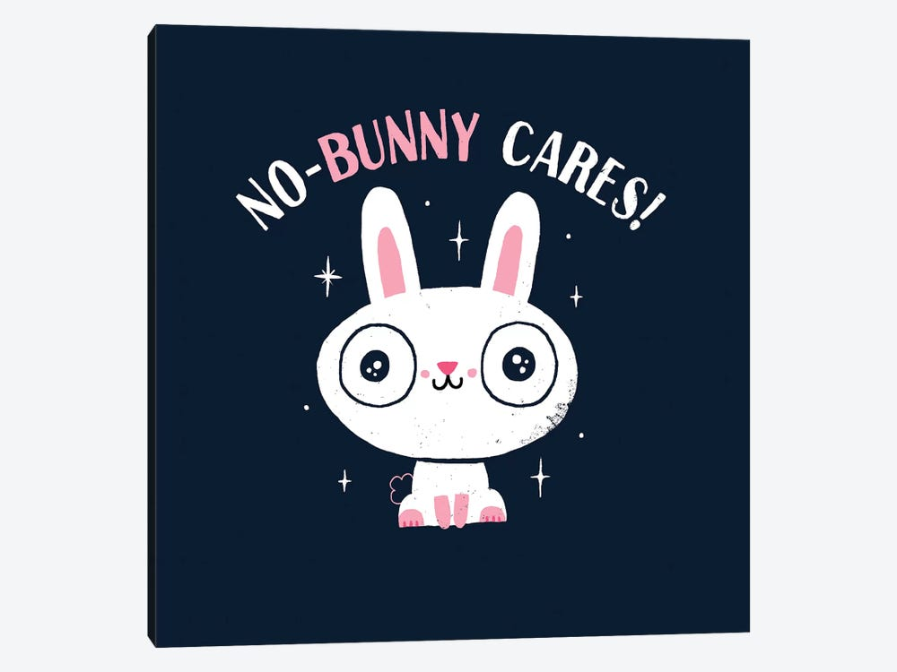 No-Bunny Cares by Michael Buxton 1-piece Canvas Artwork