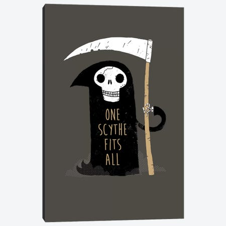 One Scythe Fits All 3-Piece Canvas #BUX14} by Michael Buxton Canvas Wall Art