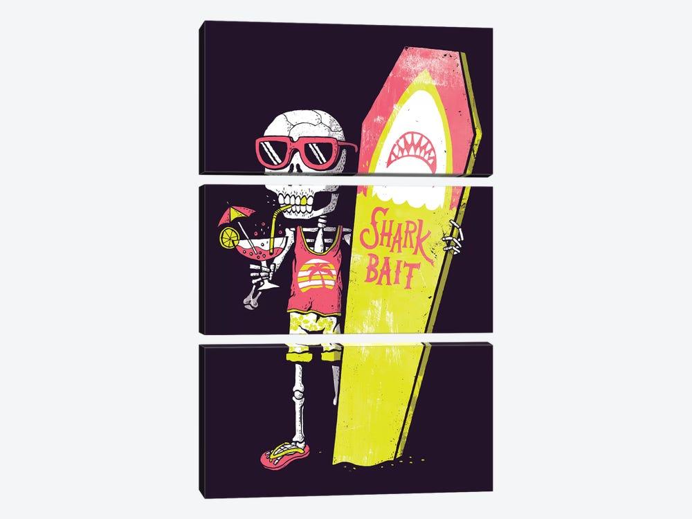 Shark Bait by Michael Buxton 3-piece Canvas Art Print