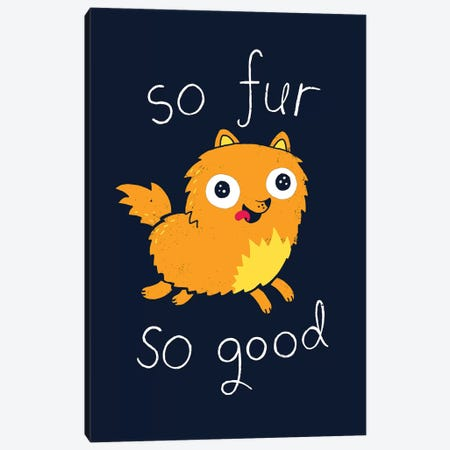 So Fur So Good Canvas Print #BUX17} by Michael Buxton Canvas Wall Art
