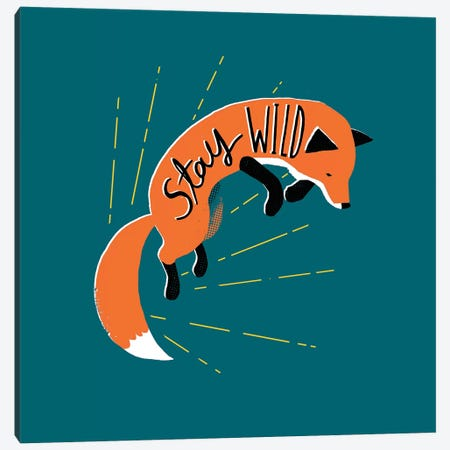 Stay Wild Canvas Print #BUX19} by Michael Buxton Canvas Art Print