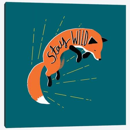 Stay Wild Canvas Print #BUX19} by Michael Buxton Canvas Art Print