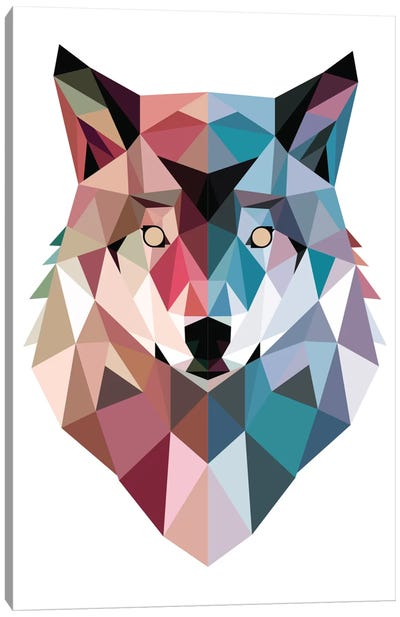 Geo Wolf Canvas Art Print