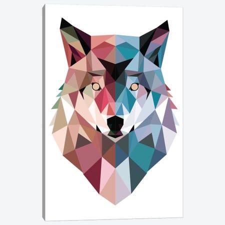 Geo Wolf Canvas Print #BUX1} by Michael Buxton Canvas Artwork