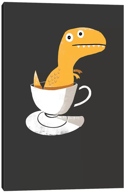 Tea Rex Canvas Art Print