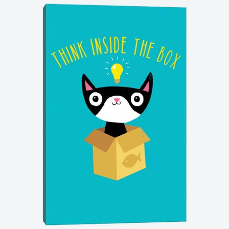 Think Inside The Box Canvas Print #BUX21} by Michael Buxton Canvas Artwork