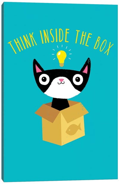 Think Inside The Box Canvas Art Print