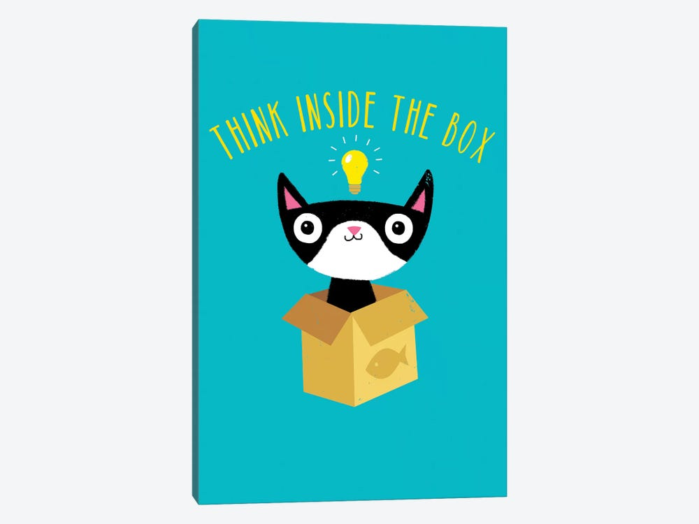 Think Inside The Box by Michael Buxton 1-piece Canvas Art Print
