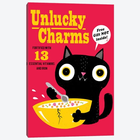 Unlucky Charms Canvas Print #BUX22} by Michael Buxton Canvas Artwork
