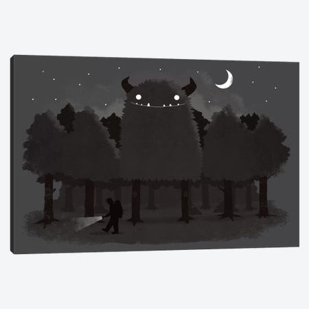 Monster Hunting Canvas Print #BUX2} by Michael Buxton Canvas Wall Art