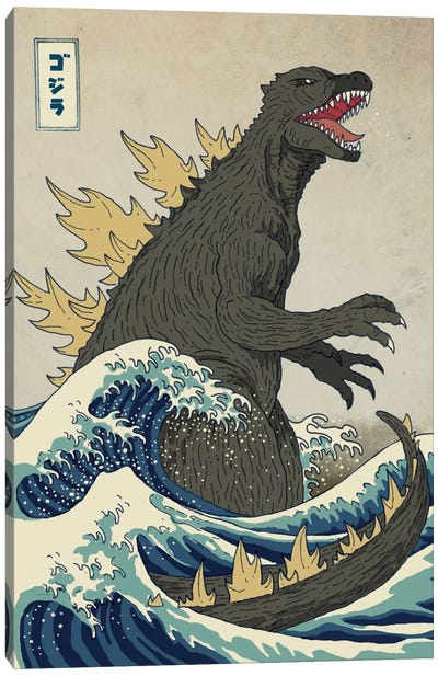 The Great Monster Off Kanagawa Canvas Art Print