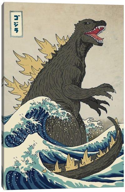 The Great Monster Off Kanagawa Canvas Art Print