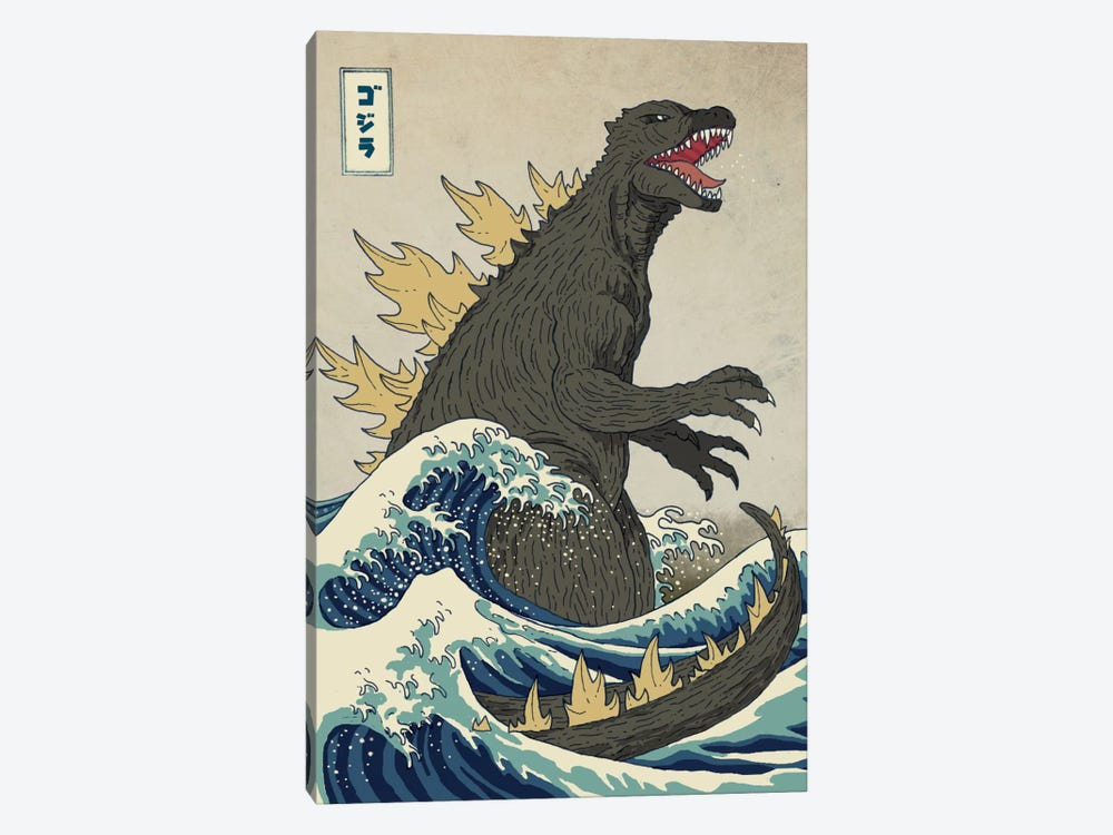 The Great Monster Off Kanagawa by Michael Buxton 1-piece Canvas Wall Art