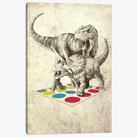 The Ultimate Battle Canvas Print #BUX5} by Michael Buxton Art Print