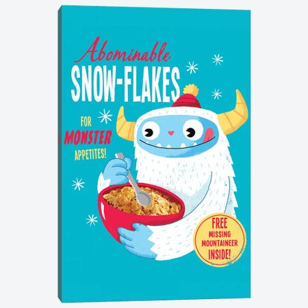 Abominable Snowflakes Canvas Print #BUX7} by Michael Buxton Canvas Art Print