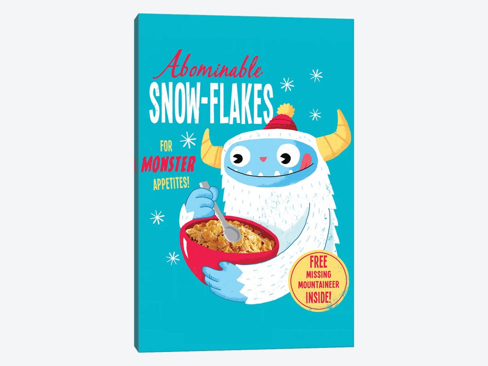 Abominable Snowflakes by Michael Buxton 1-piece Canvas Art Print
