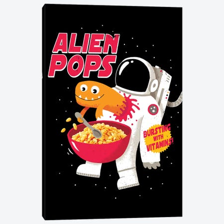 Alien Pops Canvas Print #BUX8} by Michael Buxton Canvas Art
