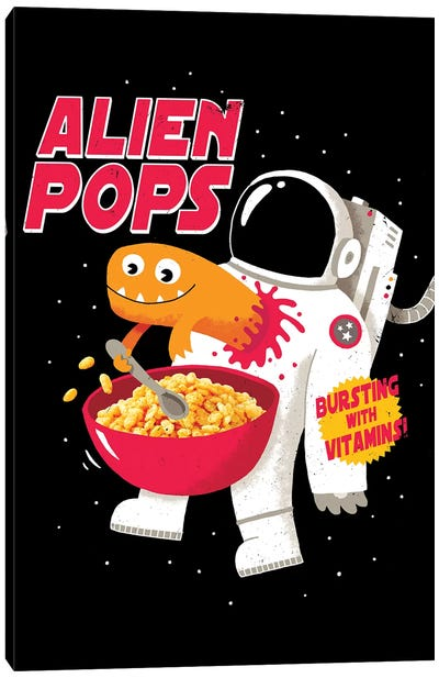Alien Pops Canvas Art Print