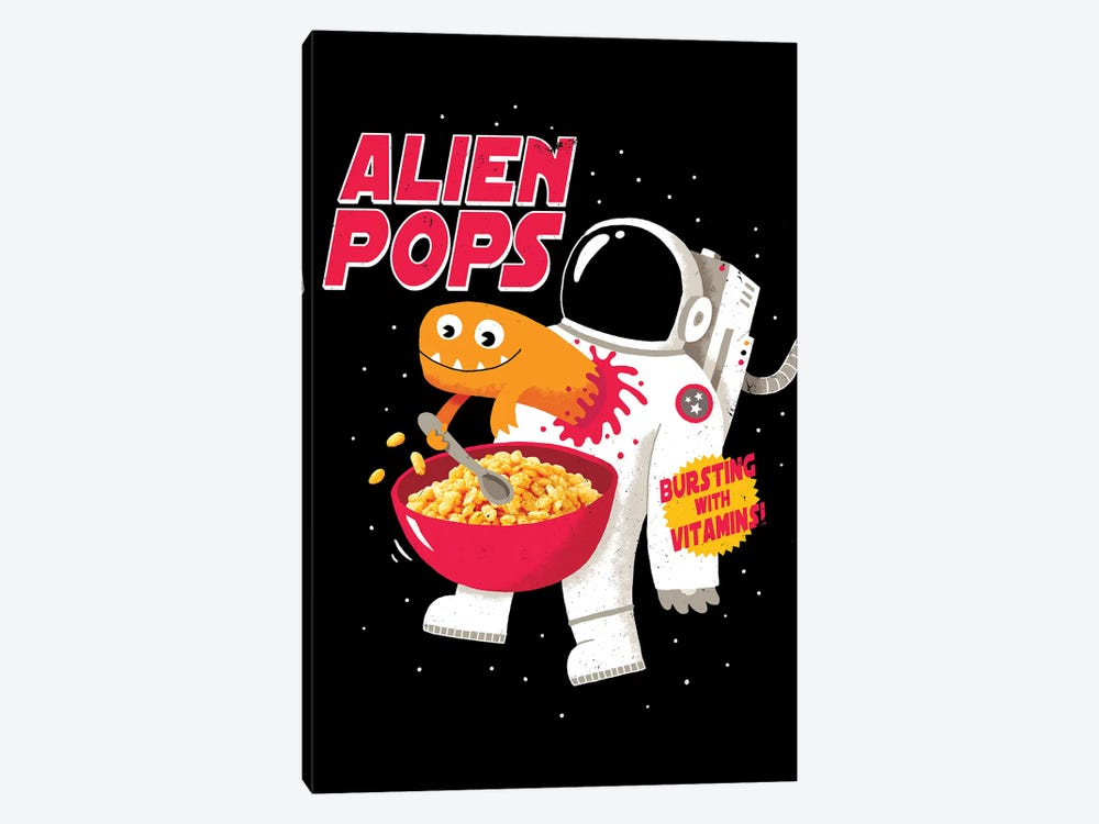 Alien Pops by Michael Buxton 1-piece Canvas Wall Art