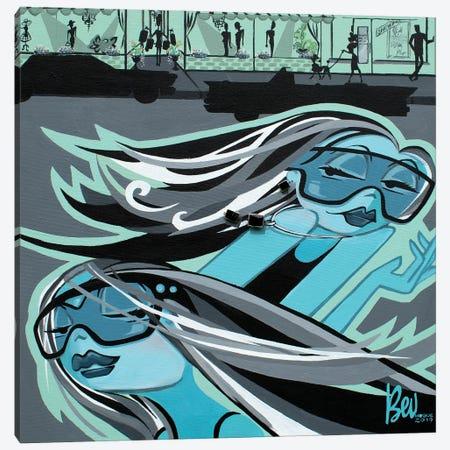 Passing Lane Canvas Print #BVH32} by Bev Hogue Canvas Print