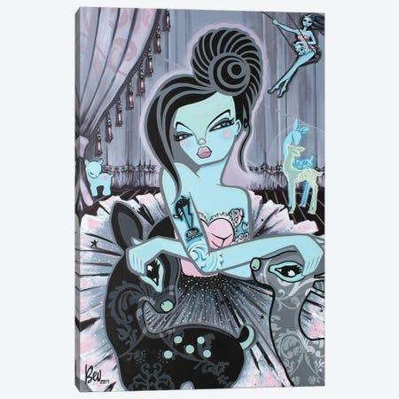 Black Fawn Canvas Print #BVH4} by Bev Hogue Canvas Art Print