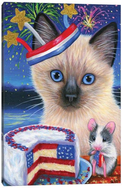 Cici's Celebration Canvas Art Print