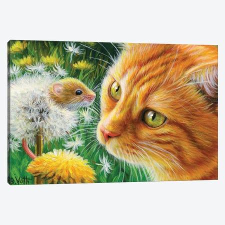 Dandelion Fun Canvas Print #BVT108} by Bridget Voth Canvas Print