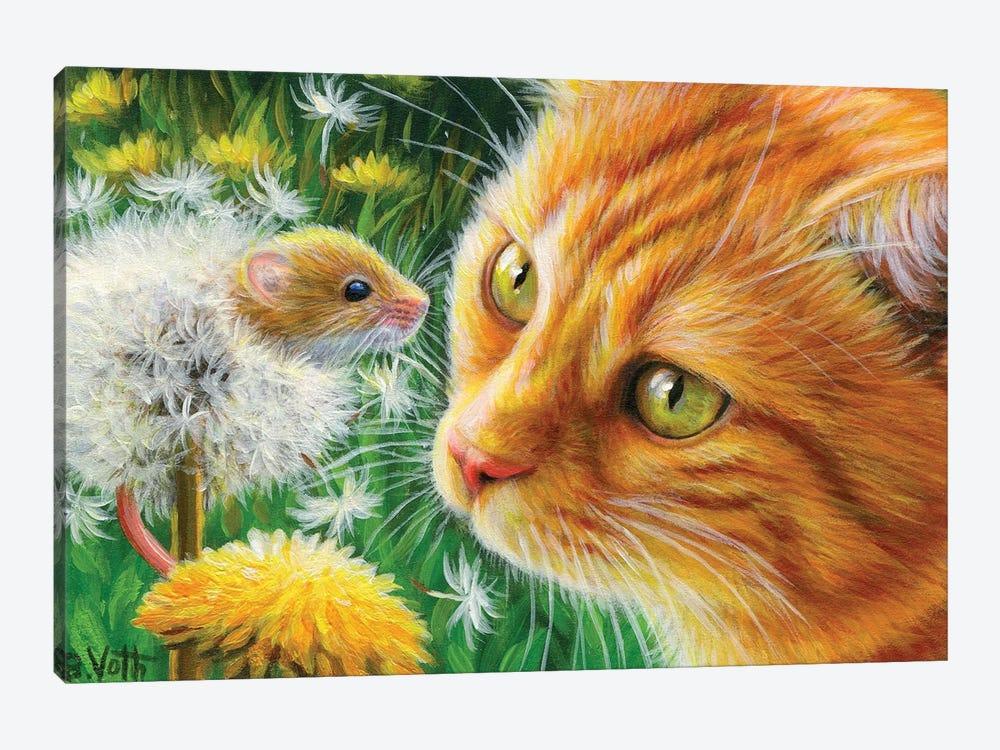 Dandelion Fun by Bridget Voth 1-piece Canvas Art Print