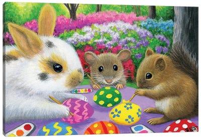 Decorating The Eggs Canvas Art Print