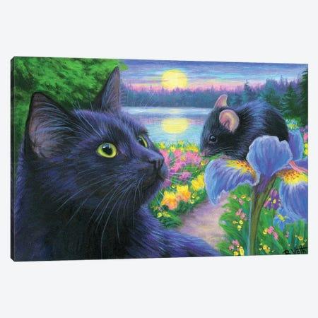 Evening In Braveheart's Garden Canvas Print #BVT119} by Bridget Voth Canvas Artwork