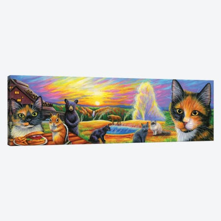 Fun At Yellowstone Canvas Print #BVT136} by Bridget Voth Canvas Print
