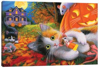 Halloween Fun With Friends Canvas Art Print