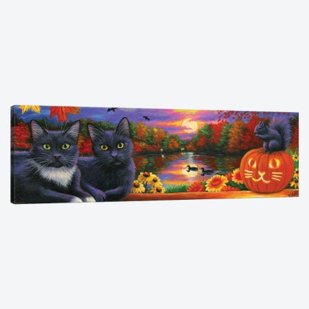 Halloween Moonrise Canvas Print #BVT150} by Bridget Voth Canvas Artwork