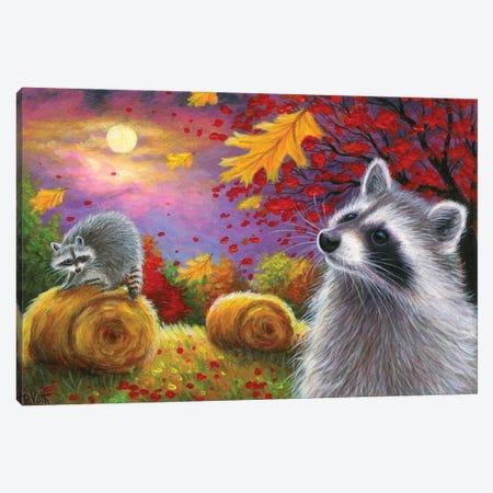 Harvest Moon Coons Canvas Print #BVT155} by Bridget Voth Art Print