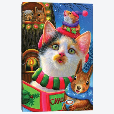 Here We Come A Caroling Canvas Print #BVT160} by Bridget Voth Art Print